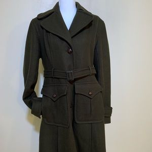 DKNY Hunter Green Pea Coat